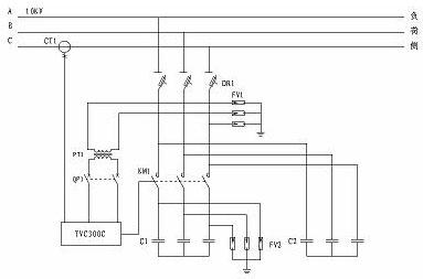 电容器分组:1∽2组自动控制(可增加1组固定补偿)